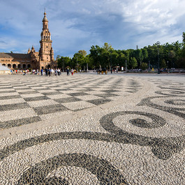 Séville - Les frises place de l'Espagne