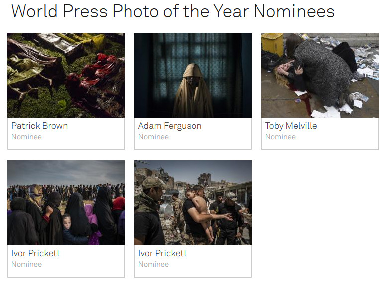 World Press Photo of the Year Nominees