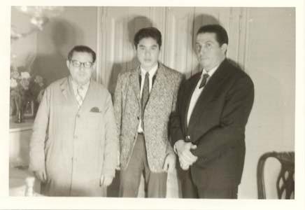 1964年 イグナシオ・フレタの工房にて 左側フレタ氏・右側ご子息