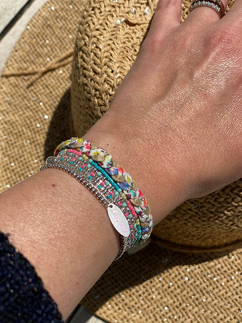 Bracelet tressé en Liberty Phoebe Sweetie