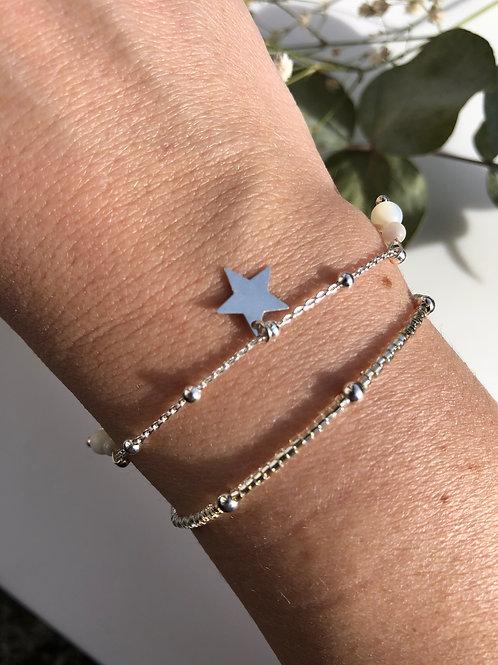 """Bracelet """"Bianca"""" en argent et nacre"""