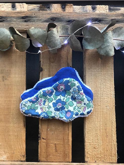 Lingettes lavables nuage (liberty et lange bleu)