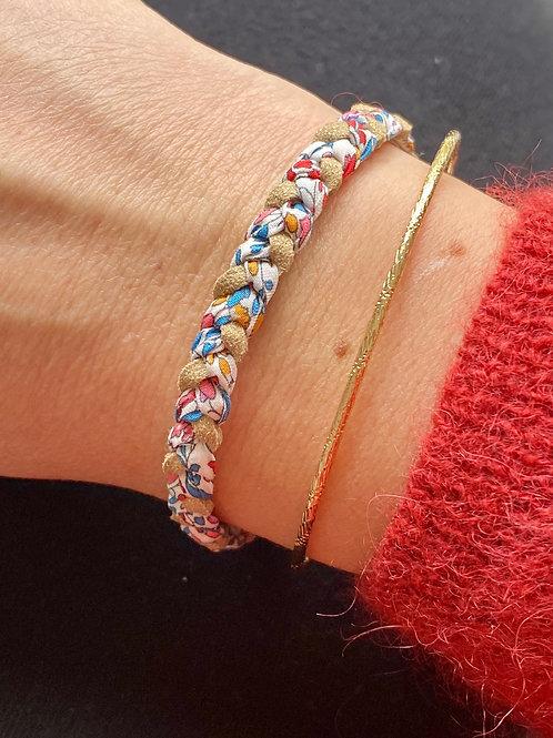 Bracelet tressé en Liberty Katie and millie Carnival