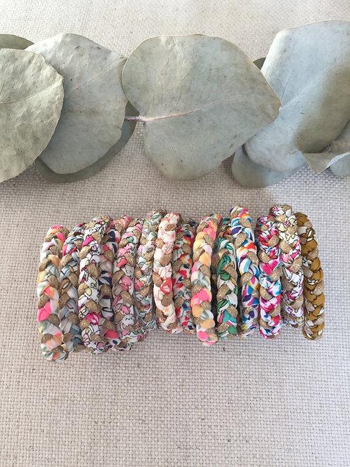 Bracelet tresse en Liberty pour enfant