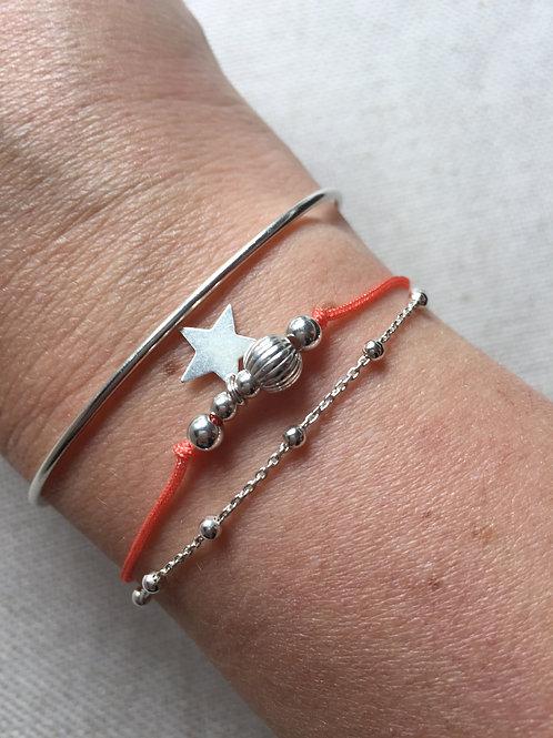 """Bracelet """"Double"""" en argent massif"""