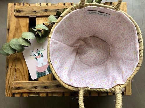 Petit Panier doublé en tissu oeko tex