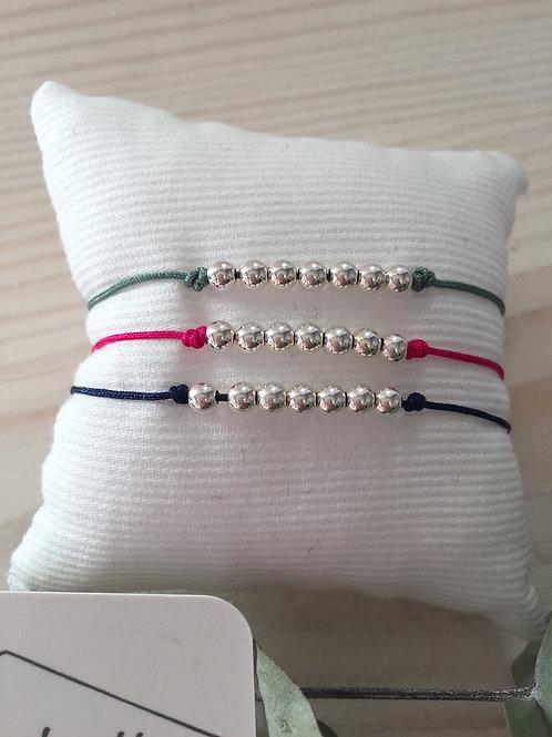 Bracelet Boules en argent massif