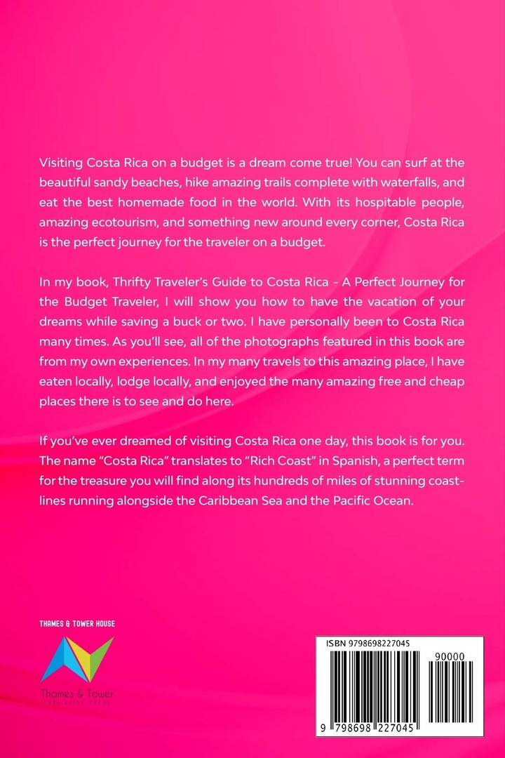 Thrifty Traveler's Guide to Costa Rica_back cover