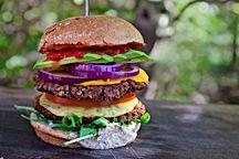 double decker vegan burger