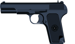 A black handgun