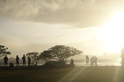 surfers checking waves at Kahului Harbor, Maui