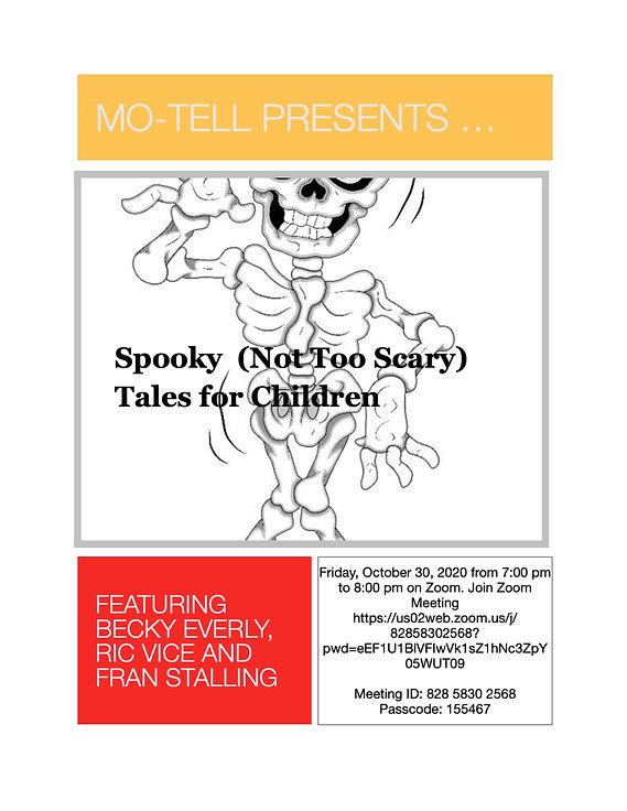Oct 30 Spooky (Not Too Scary) Tales for