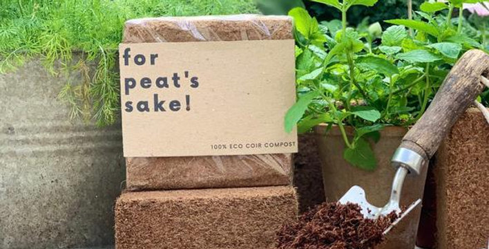 Peat-free coconut coir compost