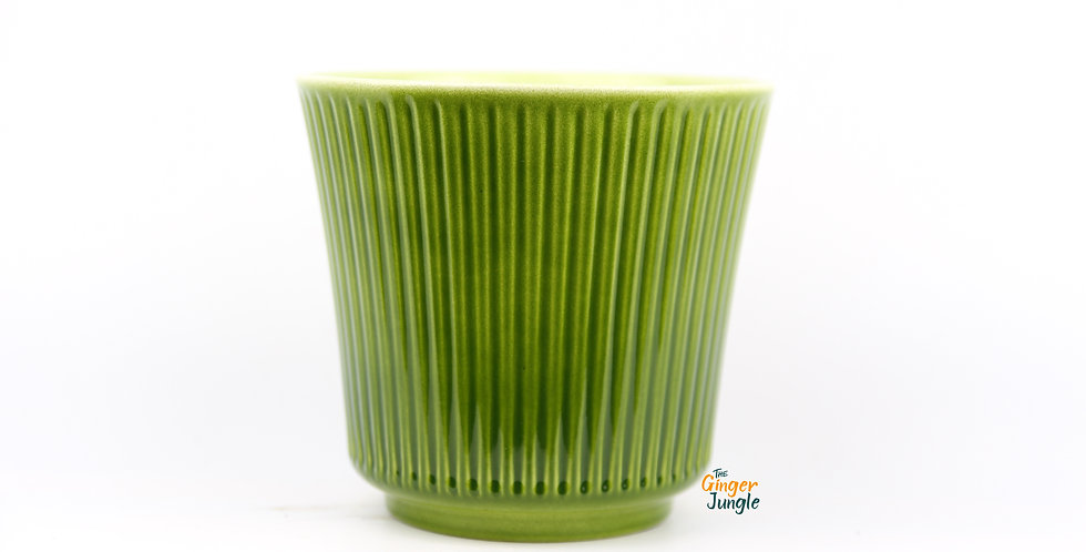 Vintage Green glazed pot