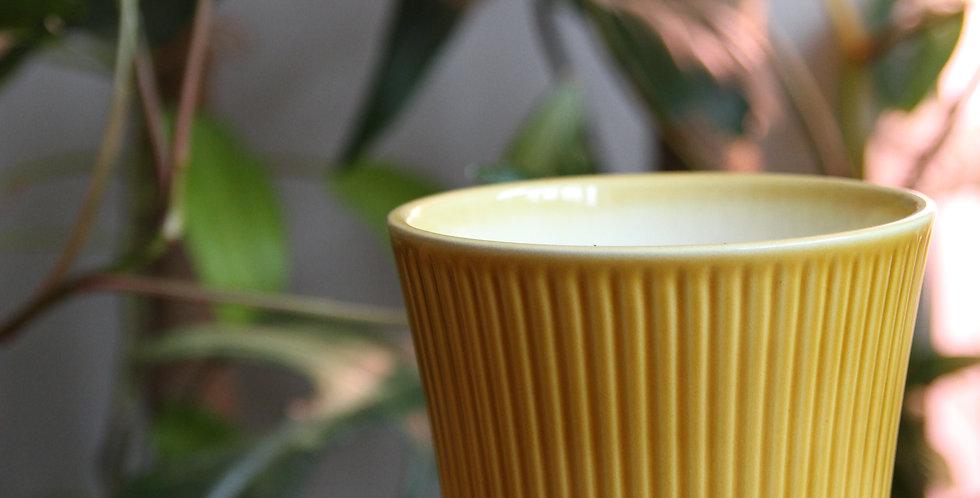 Mellow yellow indoor plant pot - medium