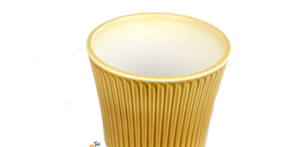 Mellow yellow indoor plant pot - small