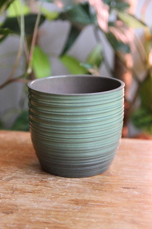 Mint green glazed Indoor plant pot
