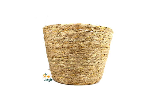 Natural seagrass plant pot