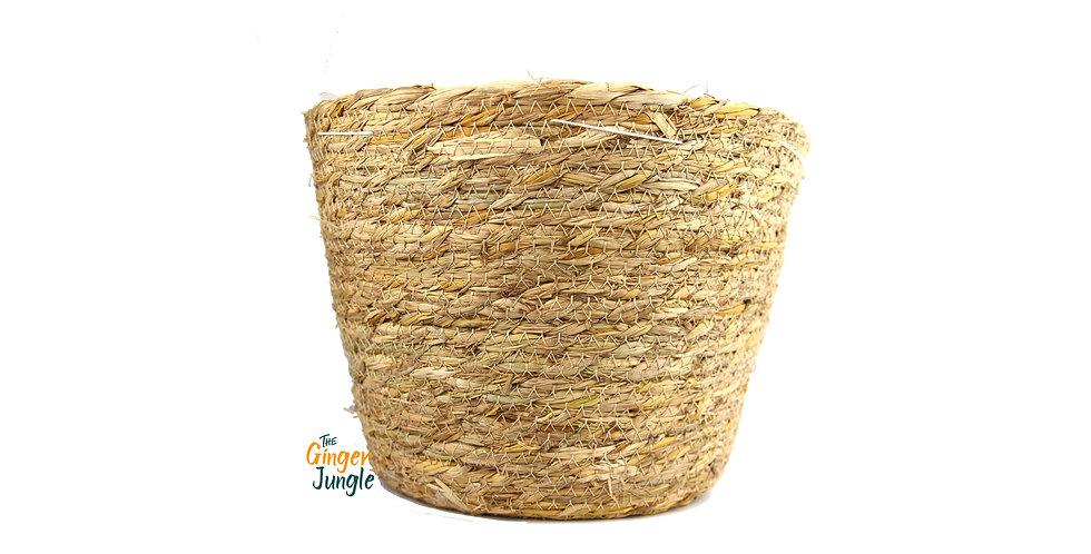 Natural seagrass plant pot