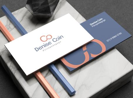 Identidade Visual Psicopedagoga Denise Coin