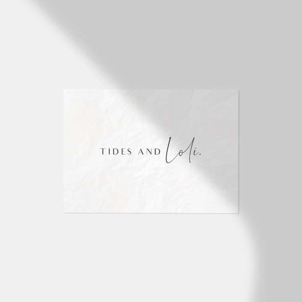 Logo Design / Tides And Loli