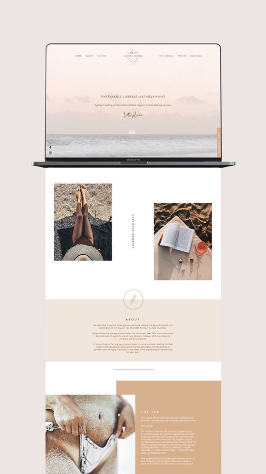 Website Design / Urban Organic Tanning