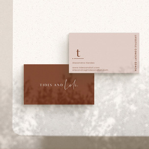 Business Card Design / Tides And Loli