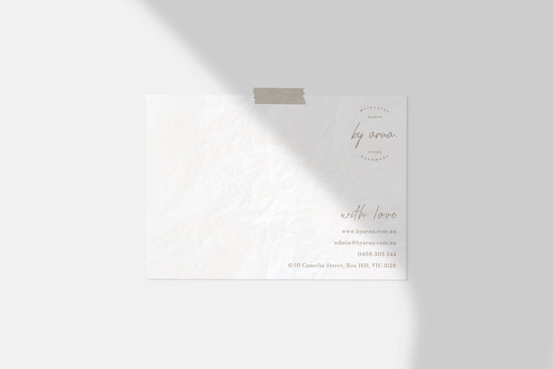 Thank You Note Design / By Arna