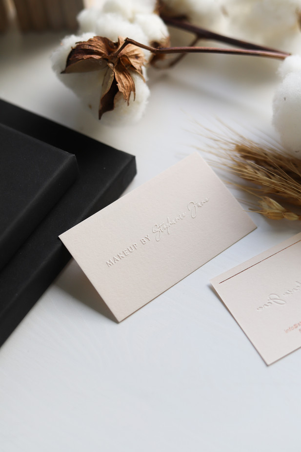 Business Card Design / Makeup By Stephanie Jane