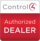 Control4 Authorized Dealer Badge for the leadin AV insallation comany in allen, texas