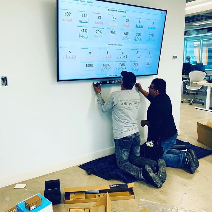 Installation Crew at Work - EIG PRO