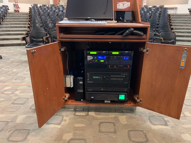 In-Cabinet Audiovisual Rack