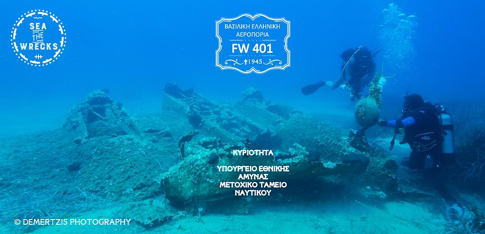 Στα καταγάλανα νερά του Μαγγανίτη της Ικαρίας, βρίσκεται το σημείο αναπαύσεως ενός Martin Baltimore της Βασιλικής Ελληνικής Αεροπορίας. Σε βάθος 18 μέτρων, το ελαφρύ επιθετικό βομβαρδιστικό FW401 κείτεται εκεί τα τελευταία 72 χρόνια. copyright- Demertzis photography