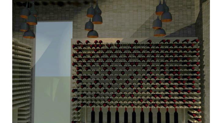 Wine cellar render 4
