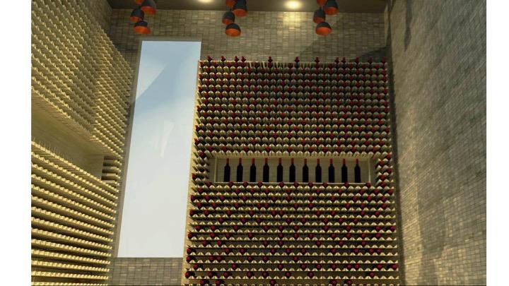 Wine cellar render 3