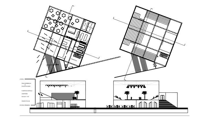 Auditorium floorplan + sections