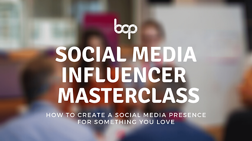 Social Media Influencer Masterclass