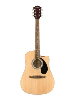 Fender FA-125CE Dreadnought Acoustic Guitar, Walnut FB, Natural