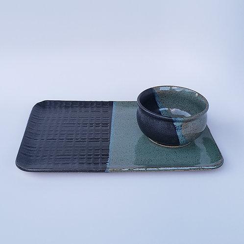 Rectangular Platter with Bowl