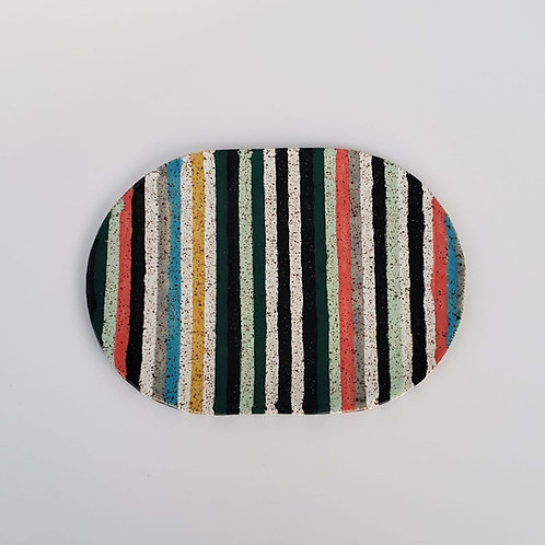 Striped Oval Tray