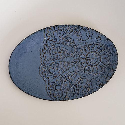 Oval Lace Platter