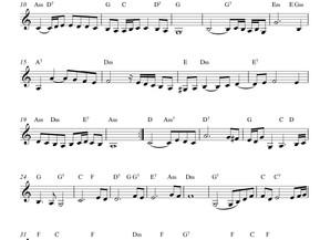 Partitura mano derecha : aria de Bach