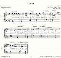 La tarara. Aprender con canciones sencillas. Preparatorio