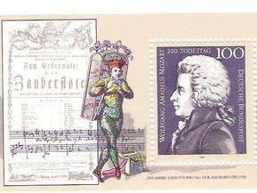 Sellos de Mozart. Filatelia musical