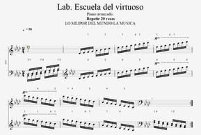 Lab  . Escala . Escuela del virtuoso. 1.