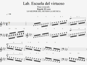Lab  . Escala . Escuela del virtuoso. 1.