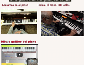 Videos de iniciación al piano. Intercambio de páginas