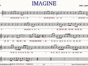 Notas flauta Imagine.