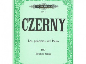Estudio 2 Czerny. Iniciación. Notas dobles. Notas picadas.