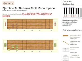 Lección 9ª. Guitarra- Autodidacta de la música.